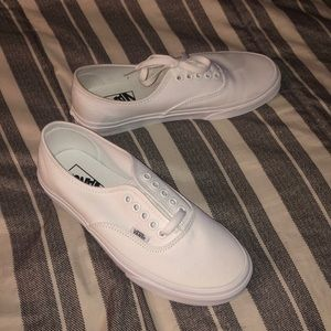 BRAND NEW never worn white vans